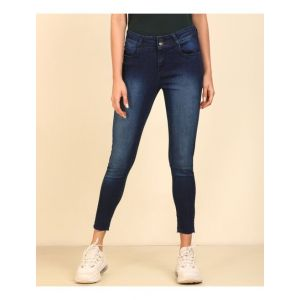 PEOPLE Tapered Fit Women Dark Blue Jeans