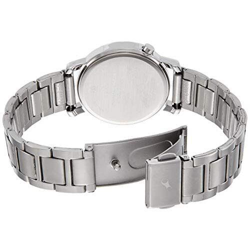 fastrack road trip analog grey dial women's watch-6112sm03