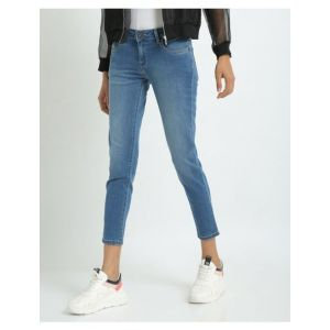 Pepe Jeans Lightly Washed Cropped Skinny Fit Jeans