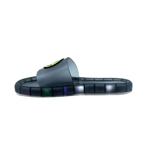 FEETWELL SHOES Smiley Patch LED Flipflop - Black