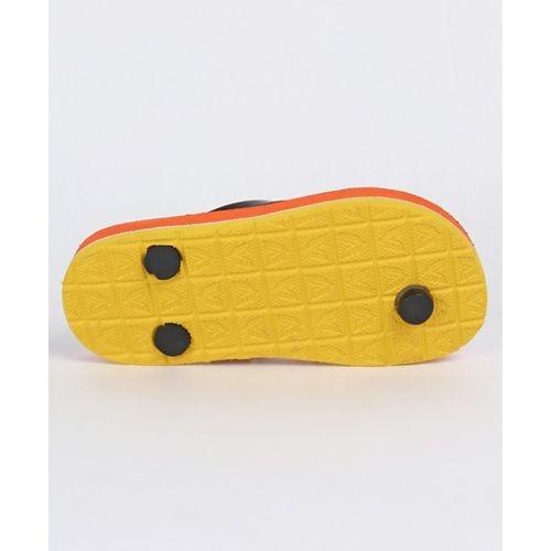 Cute Walk by Babyhug Flip Flops Mickey Mouse Print - Orange Black