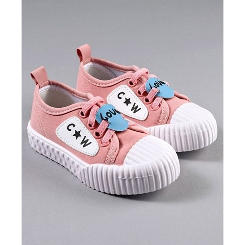 Cute Walk by Babyhug Canvas Shoes Patch Detailing - Pink