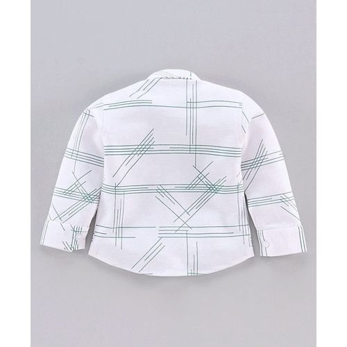 Dapper Dudes Full Sleeves Checkered Shirt With Bow Tie & Waistcoat With Pants - Green