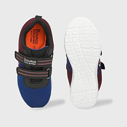 Bourge Blue and Maroon Orange-z7 Running Shoes