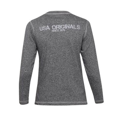 Jockey Black Grindle Boys Henley T-Shirt Long Sleeve
