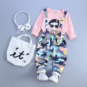 YTS Multi Colored Cotton Printed Dungaree