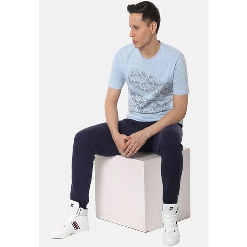 FILA Men Blue Printed Round Neck T-shirt