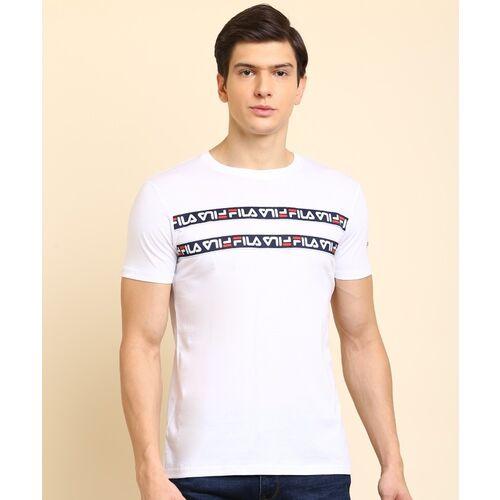 FILA Sports Men Round Neck White T-Shirt