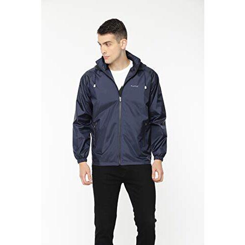 Plutus Men's Solid Windbreaker Jacket