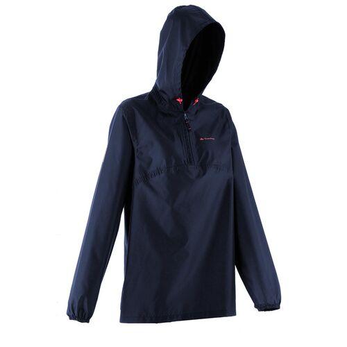 Quechua By Decathlon Women Navy Blue Solid Rain Jacket