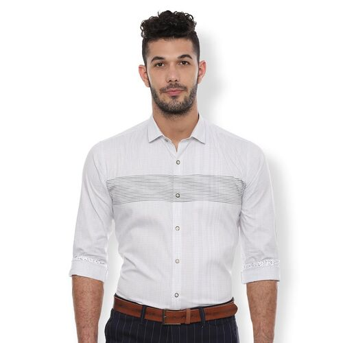 Van Heusen white striped casual shirt