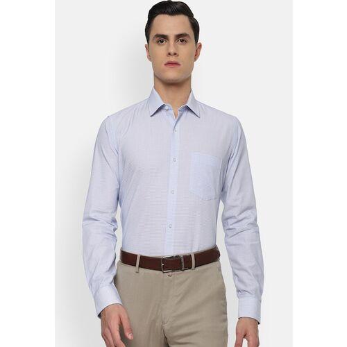 Van Heusen Men Blue Slim Fit Printed Formal Shirt