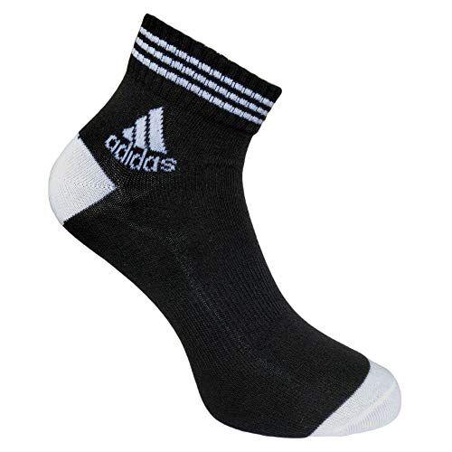 Adidas Men's Cotton Ankle Socks (Multicolour) - Pack of 3