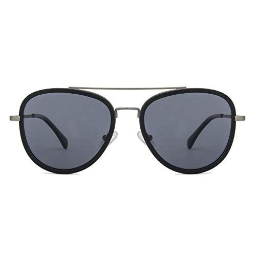 Vincent Chase by lenskart | Aviator Stylish Sunglasses | Polarized & UV Protected | For Men & Women | (53) Grey | LA S13161