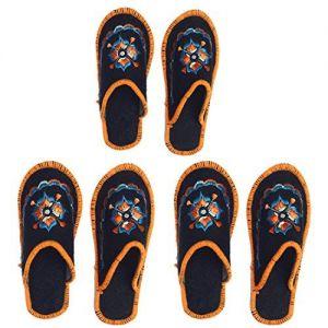 Winter Warm Slipper | Flip Flops | Carpet Slippers | Home Slippers | Men's/Women's Woolen House Bedroom Indoor/Outdoor Winter Slipper (Free Size) Combo Pack of 3
