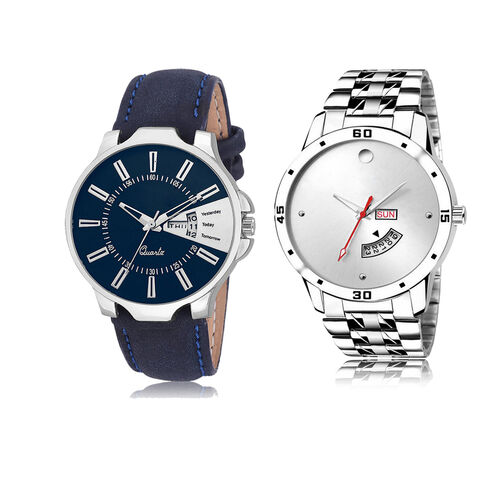 ADK LK-23-103 Blue & Silver Dial DAY & DATE Functioning Watches for Men