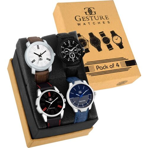 GESTURE 9013- New Exclusive Multi color dial combo Analog Watch - For Men
