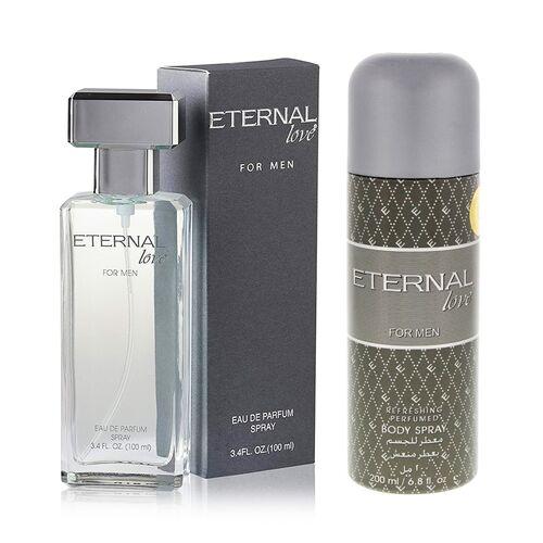 Eternal Love Body Spray, Men, 200ml + Eternal Love Eau De Parfum Men, 120ml