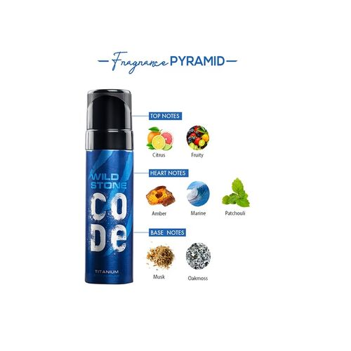 Wild Stone Men Code Titanium & Iridium Body Perfume Spray Combo 240 ml