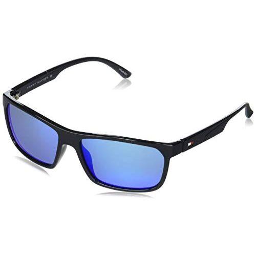 Tommy Hilfiger Mirrored Rectangular Men's Sunglasses - (TH 841 C1 S|60|Blue Color Lens)