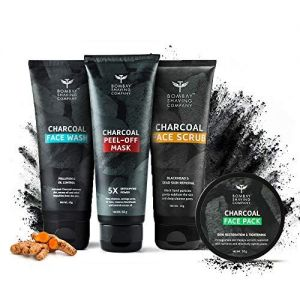 Bombay Shaving Company Activated Charcoal Facial Starter Kit 160 gm, Black
