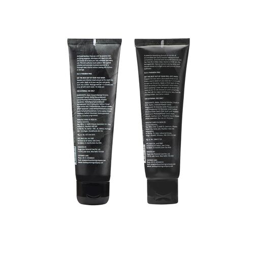 Top Notch Bombay Shaving Company Charcoal Deep Cleansing Anti Pollution Combo Face Wash & Peel Off Mask