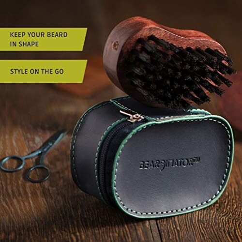 Beardinator 4 in 1 Beard Grooming & Styling Accessories Kit for Men | Combo of Pocket Beard Comb, Pocket Brush, Shaper Tool and Scissor