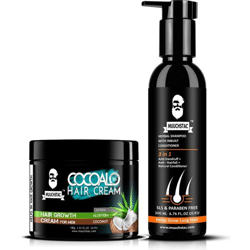 Hair & Care MUUCHSTAC Cocoalo Hair Cream for Hair Growth and Herbal Shampoo with inbuilt Conditoner(2 Items in the set)