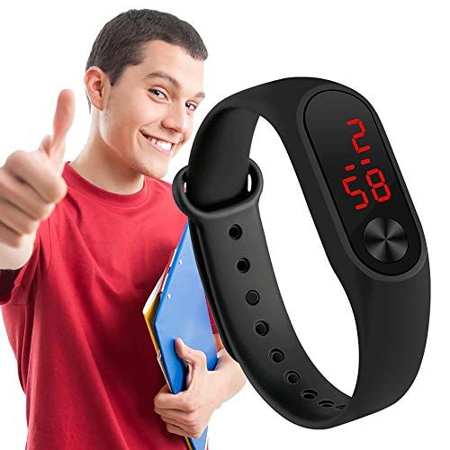 CLOUDWOOD Led Digital Watch Combo for Boys and Men -WCH306-184 Black