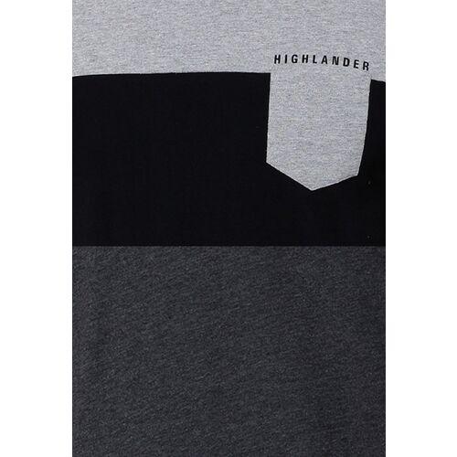 HIGHLANDER Men Pack of 2 Slim Fit Round Neck T-shirt