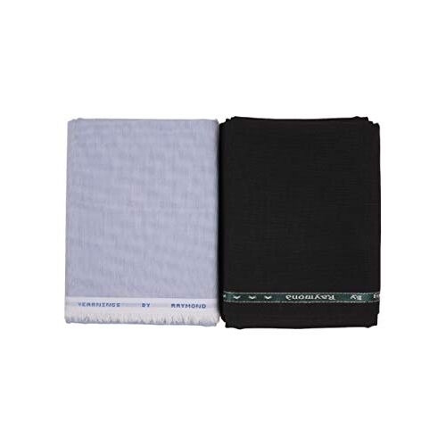 Raymond Mens Combo Set Unstitched Shirt 2.25 Meters and Trouser Fabric 1.2 Meters - Gift Box Packing - F13