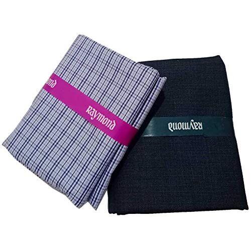 Raymond Fabrics Men's Combo of Unstitched Cotton Shirt and Trouser Fabric Set (Multicolour, Free Size)