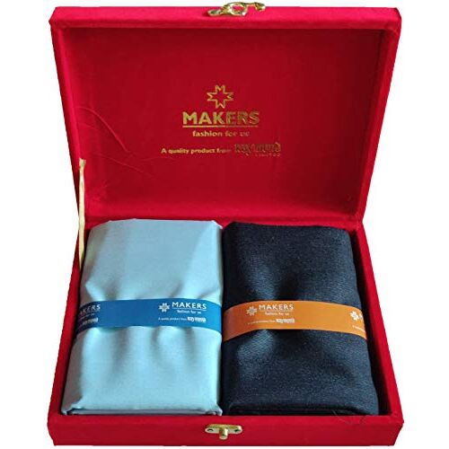 Raymond Fabrics Makers Men's Combo of Unstitched Poly Cotton Shirt and Trouser Fabric Set (Multicolour_Free Size)