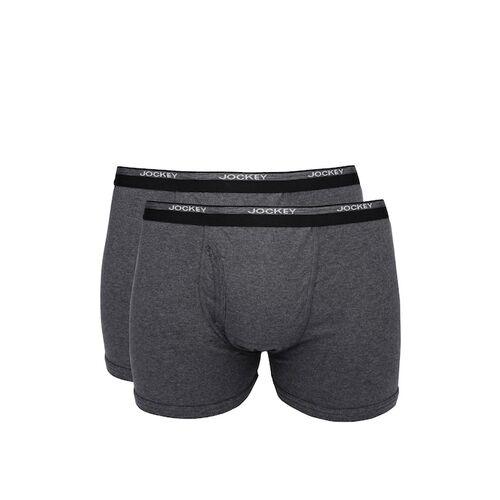 Jockey Men Pack of 2 Charcoal Grey Boxer Briefs 8009-0205