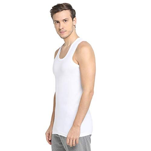 Dixcy Scott Mens White Vest Modern Fit Innerwear (Pack of 3)