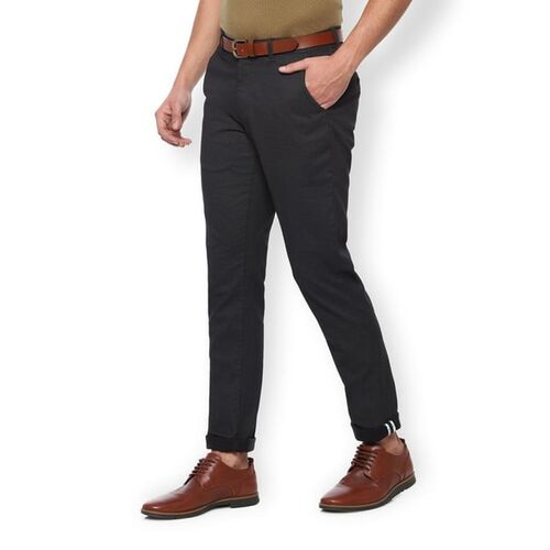 Van Heusen Flat-Front Trousers with Insert Pockets