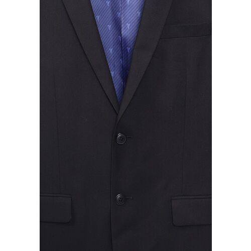 Van Heusen Men Black Solid Single-Breasted Blazer
