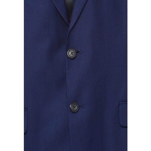 Van Heusen Men Navy Blue Solid Single-Breasted Slim-Fit Suit