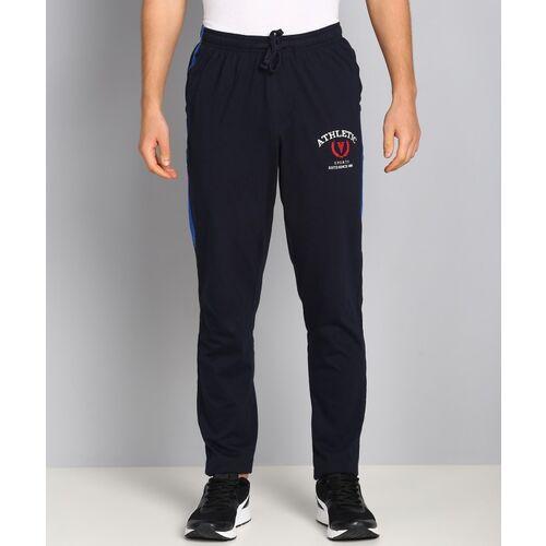 VAN HEUSEN Solid Men Dark Blue Track Pants