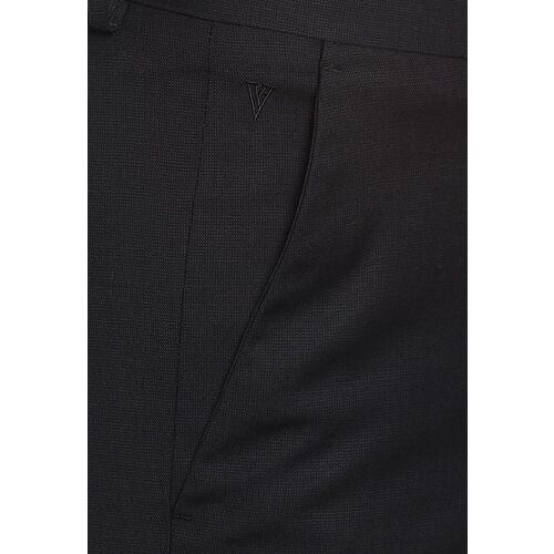 Van Heusen Men Black Regular Fit Solid Formal Trousers