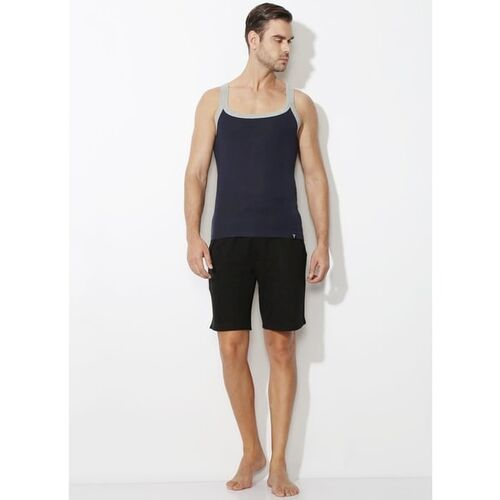 Van Heusen Square-Neck Vest with Contrast Taping