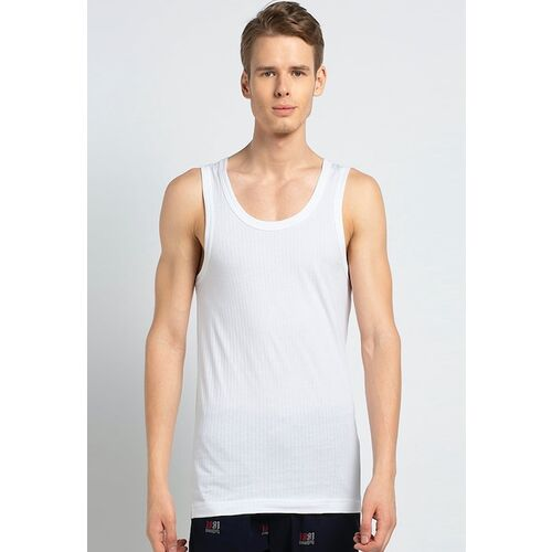 Van Heusen Men White Solid Basic Innerwear Vests IHVT1VSWH70022