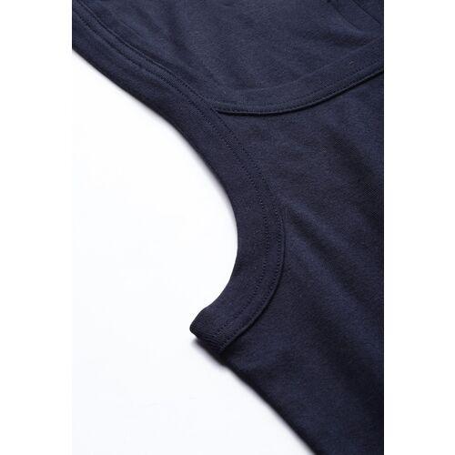 Van Heusen Navy Blue Solid Innerwear Vest 60077