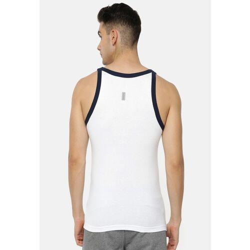 Van Heusen Men White Solid Innerwear Vest 60072