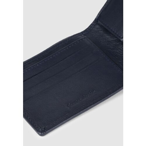 Van Heusen Men Navy Blue Solid Two Fold Leather Wallet