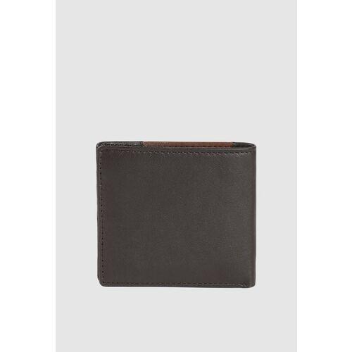 Van Heusen Men Brown & Black Colourblocked Leather Two Fold Wallet
