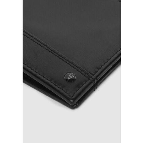 Van Heusen Men Black Solid Two Fold Wallet