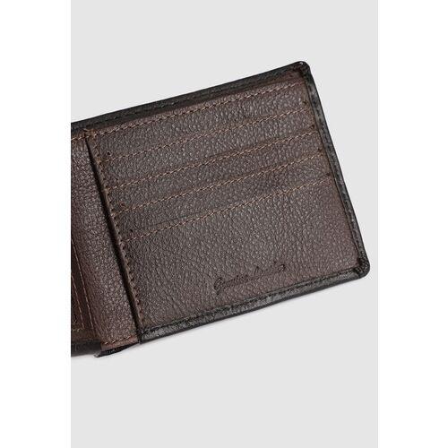 Van Heusen Men Black Textured Two Fold Wallet