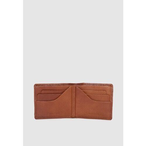 Van Heusen Men Tan Brown Textured Leather Two Fold Wallet