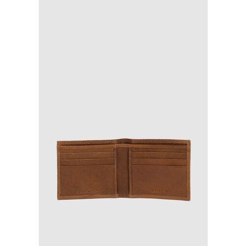 Van Heusen Men Tan-Brown Solid Two Fold Leather Wallet
